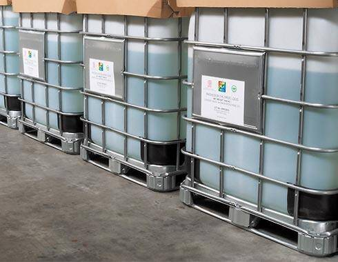 Magnesium chloride in containers